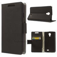Housse etui coque pochette portefeuille PU cuir pour LG F70 + film ecran - NOIR