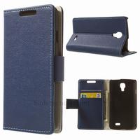 Housse etui coque pochette portefeuille PU cuir pour LG F70 + film ecran - BLEU