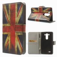 Housse etui coque pochette portefeuille PU cuir pour LG G3 + film ecran - UK