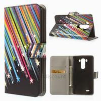 Housse etui coque pochette portefeuille PU cuir pour LG G3 + film ecran - ETOILES
