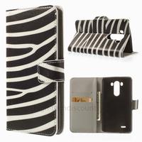 Housse etui coque pochette portefeuille PU cuir pour LG G3 + film ecran - ZEBRE