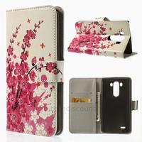 Housse etui coque pochette portefeuille PU cuir pour LG G3 + film ecran - CERISIER