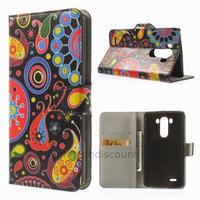 Housse etui coque pochette portefeuille PU cuir pour LG G3 + film ecran - PAISLEY