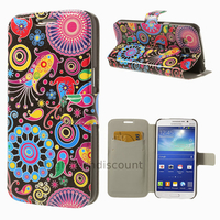 Housse etui coque portefeuille PU cuir pour Samsung g7105 Galaxy Grand 2 + film ecran - PAISLEY