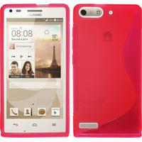 Housse etui coque silicone gel fine pour Huawei Ascend G6 (P6 Mini) + film ecran - ROSE