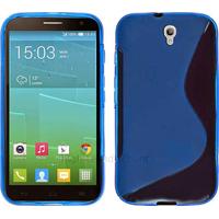Housse etui coque pochette silicone gel fine pour Alcatel One Touch Idol 2S 6050 - BLEU