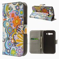 Housse etui coque portefeuille PU cuir pour Alcatel One Touch Pop C9 7047D + film ecran - FLEURS C