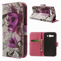 Housse etui coque portefeuille PU cuir pour Alcatel One Touch Pop C9 7047D + film ecran - LOTUS