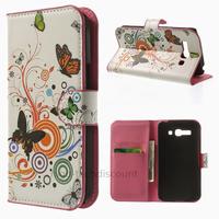 Housse etui coque portefeuille PU cuir pour Alcatel Pop One Touch C9 7047D + film ecran - PAPILLONS