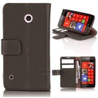 Housse etui coque pochette portefeuille PU cuir pour Nokia Lumia 530 + film ecran - NOIR