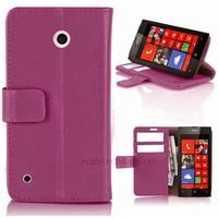 Housse etui coque pochette portefeuille PU cuir pour Nokia Lumia 530 + film ecran - MAUVE