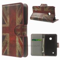 Housse etui coque pochette portefeuille PU cuir pour Nokia Lumia 530 + film ecran - UK