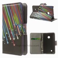 Housse etui coque pochette portefeuille PU cuir pour Nokia Lumia 530 + film ecran - ETOILES
