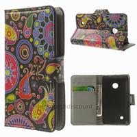 Housse etui coque pochette portefeuille PU cuir pour Nokia Lumia 530 + film ecran - PAISLEY