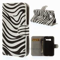 Housse etui coque portefeuille PU cuir pour Alcatel One Touch Pop C5 5036D + film ecran - ZEBRE