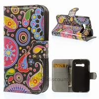 Housse etui coque portefeuille PU cuir pour Alcatel One Touch Pop C5 5036D + film ecran - PAISLEY