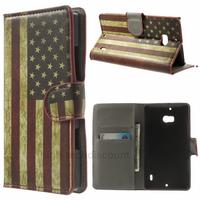 Housse etui coque pochette portefeuille PU cuir pour Nokia Lumia 930 + film ecran - USA