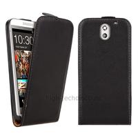 Housse etui coque pochette PU cuir fine pour HTC Desire 610 + film ecran - NOIR