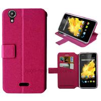 Housse etui coque pochette portefeuille pour Wiko Birdy 4G + film ecran - ROSE