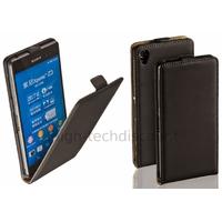 Housse etui coque pochette PU cuir fine pour Sony Xperia Z3 + film ecran - NOIR