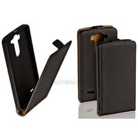 Housse etui coque pochette PU cuir fine pour LG G3 S (G3 Mini) + film ecran - NOIR