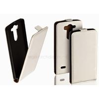 Housse etui coque pochette PU cuir fine pour LG G3 S (G3 Mini) + film ecran - BLANC