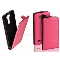 Housse etui coque pochette PU cuir fine pour LG G3 S (G3 Mini) + film ecran - ROSE