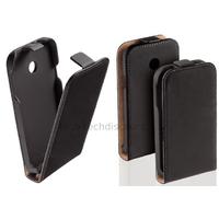 Housse etui coque pochette PU cuir fine pour Huawei Ascend Y330 + film ecran - NOIR