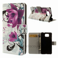 Housse etui coque portefeuille PU cuir pour Samsung Galaxy Alpha G850F + film ecran - LOTUS