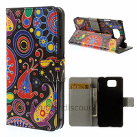 Housse etui coque portefeuille PU cuir pour Samsung Galaxy Alpha G850F + film ecran - PAISLEY