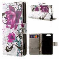 Housse etui coque pochette portefeuille PU cuir pour Sony Xperia Z3 Compact + film ecran - LOTUS