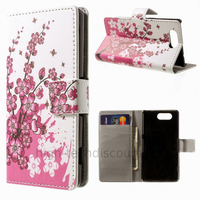 Housse etui coque pochette portefeuille PU cuir pour Sony Xperia Z3 Compact + film ecran - CERISIER
