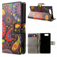 Housse etui coque pochette portefeuille PU cuir pour Sony Xperia Z3 Compact + film ecran - PAISLEY