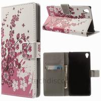 Housse etui coque pochette portefeuille PU cuir pour Sony Xperia Z3 + film ecran - CERISIER