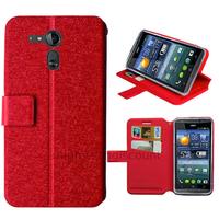 Housse etui coque pochette portefeuille pour Acer Liquid E700 + film ecran - ROUGE