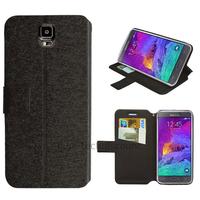 Housse etui coque pochette portefeuille pour Samsung G910F Galaxy Note 4 + film ecran - NOIR