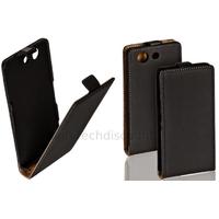 Housse etui coque pochette PU cuir fine pour Sony Xperia Z3 Compact + film ecran - NOIR