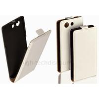 Housse etui coque pochette PU cuir fine pour Sony Xperia Z3 Compact + film ecran - BLANC
