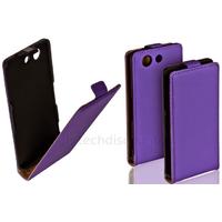 Housse etui coque pochette PU cuir fine pour Sony Xperia Z3 Compact + film ecran - MAUVE