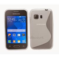 Housse etui coque silicone gel fine pour Samsung G130 Galaxy Young 2 + film ecran - BLANC