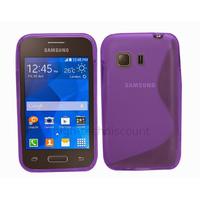 Housse etui coque silicone gel fine pour Samsung G130 Galaxy Young 2 + film ecran - MAUVE