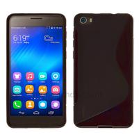 Housse etui coque pochette silicone gel fine pour Huawei Honor 6 + film ecran - NOIR