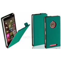 Housse etui coque pochette PU cuir fine pour Nokia Lumia 830 + film ecran - BLEU