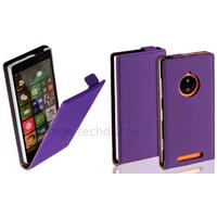 Housse etui coque pochette PU cuir fine pour Nokia Lumia 830 + film ecran - MAUVE