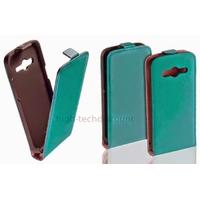 Housse etui coque pochette PU cuir fine pour Samsung G357 Galaxy Ace 4 4G + film ecran - BLEU