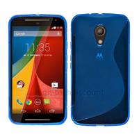 Housse etui coque silicone gel fine pour Motorola Moto G 2eme generation 2014 + film ecran - BLEU