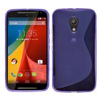Housse etui coque silicone gel fine pour Motorola Moto G 2eme generation 2014 + film ecran - MAUVE