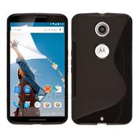 Housse etui coque pochette silicone gel fine pour Google Motorola Nexus 6 + film ecran - NOIR