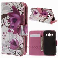 Housse etui coque pochette portefeuille PU cuir pour Samsung G357 Galaxy Ace 4 4G + film ecran - LOTUS