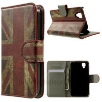 Housse etui coque pochette portefeuille PU cuir pour Wiko Goa + film ecran - UK